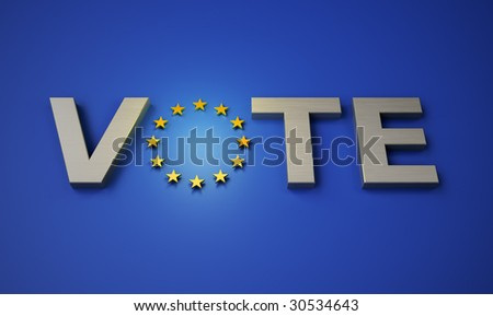 vote in the EU - European parliamentary elections - stock photo