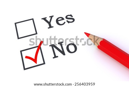 vote no - stock photo
