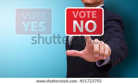 Vote no concept - stock photo