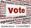 Vote political poster concept. Democracy message conceptual design - stock photo