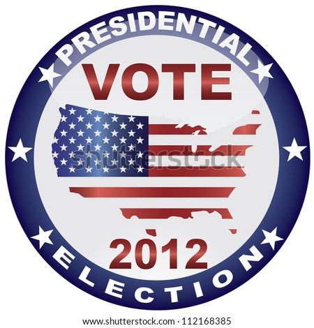 Vote Presidential Election 2012 With Usa Flag In Map Raster Vector Silhouette Ilration