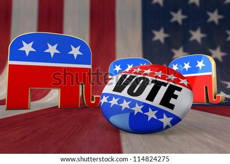 Vote Republican - stock photo