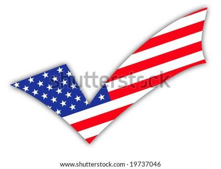 Vote. Tick - stock photo