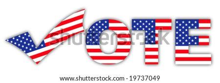 Vote. Tick. - stock photo