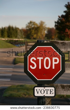 Vote using a stop sign