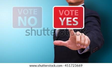 Vote yes concept - stock photo