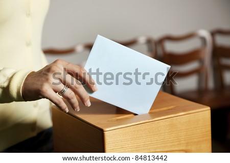 voting - stock photo