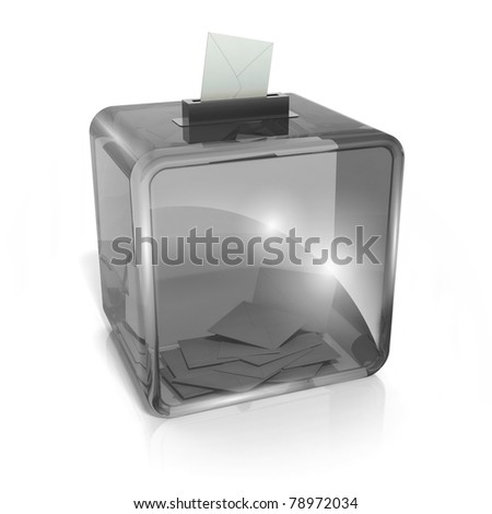 Voting box - stock photo