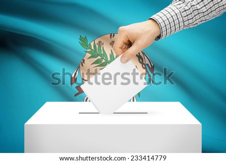 Voting concept - Ballot box with national flag on background - Oklahoma - stock photo