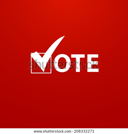 Voting Symbol design - stock photo
