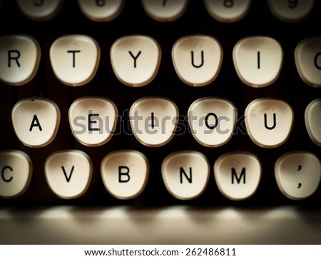Vowels - stock photo