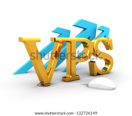 VPS Concept - stock photo