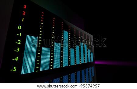 Vu meter,  music concept - stock photo