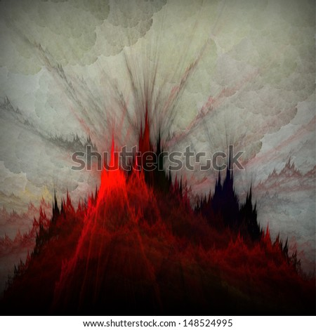Vulcan.  Abstract fractal background. - stock photo