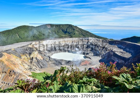 Vulcano Poas - Costa Rica - stock photo