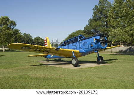Vultee PT-13 World War trainer