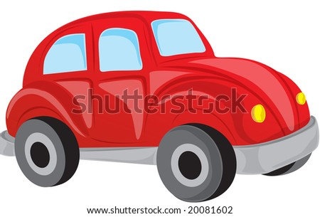 VW car object as a good illustration - isolated on white