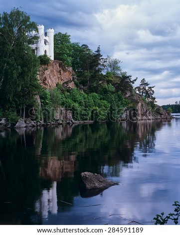 "VYBORG, RUSSIA - MAY 29, 2011: State historical, architectural and natural Museum-Reserve ""Park Mon Repos"",  Chapel Lyudvigshtayn"