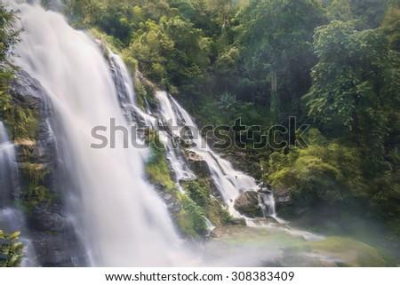 Wachiratarn waterfall, Inthanond National Park, Thailand - stock photo
