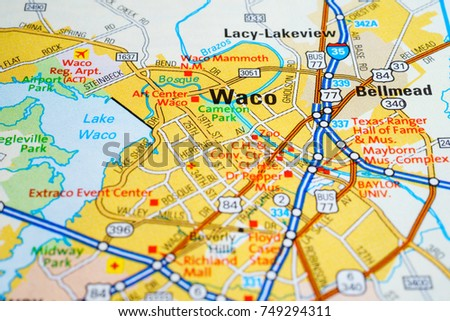 Waco United States Map Stock Photo (Edit Now) 749294311 - Shutterstock