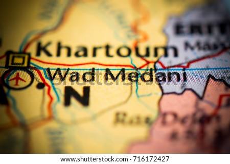 Wad Medani Sudan Stock Photo Shutterstock - Wad madani map