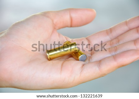 Wadcutters are often used in handgun and airgun competitions. - stock photo