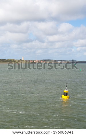 Wadden island Terschelling in sea  - stock photo