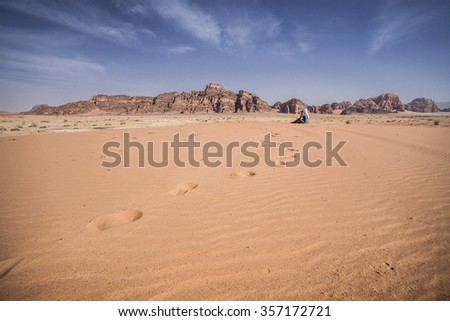 Wadi Rum Desert - stock photo