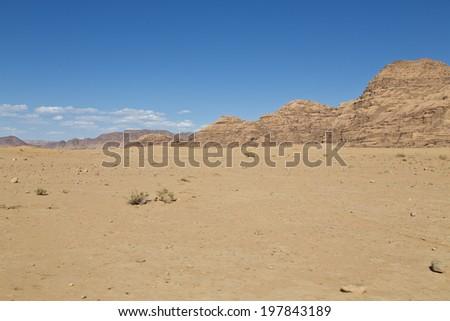 Wadi Rum desert,Jordan - stock photo