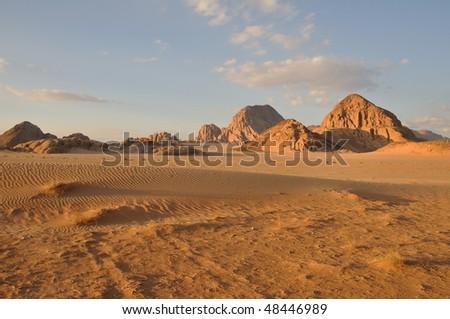 Wadi Rum landscape - stock photo