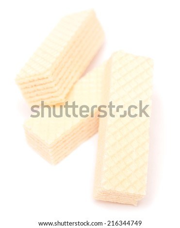 Wafer biscuit isolated on white background