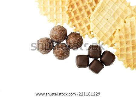wafer biscuits and sweets