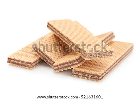Wafer closeup isolated on white background