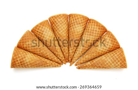 Wafer cups for ice-cream
