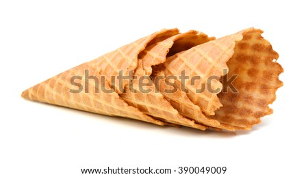 Wafer cups for ice-cream  - stock photo