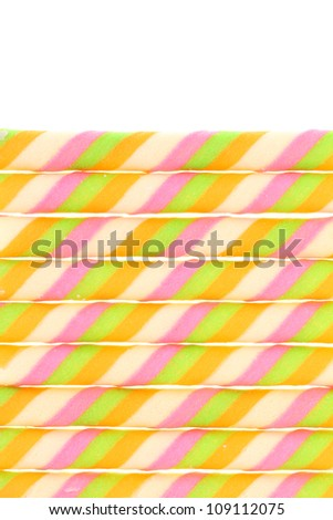 wafer on white background - stock photo