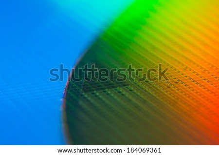 Wafer Rainbow - stock photo