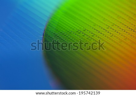 Wafer with Rainbow Colours - stock photo