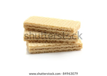 wafers isolated in white background - stock photo