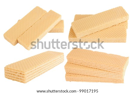 wafers isolated on a white background - stock photo