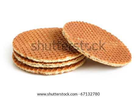 Wafers on a white background