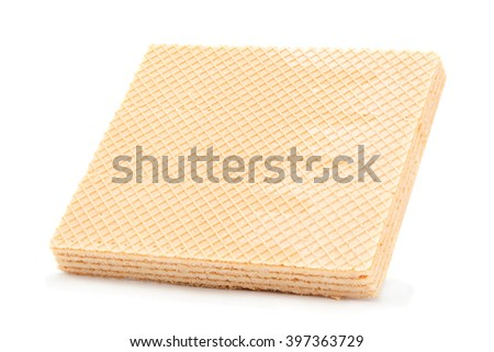 Wafers square block isolated on white background