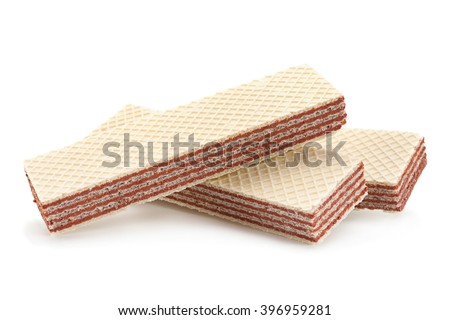 Wafers stick isolated on white background