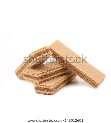 Wafers with chocolate - stock photo