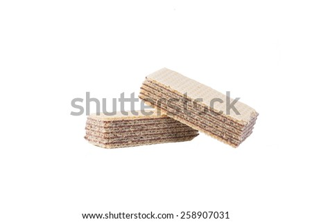 Wafers with chocolate isolated  - stock photo