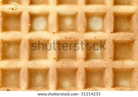 Waffle, background.