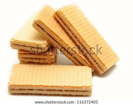 waffle on a white background - stock photo