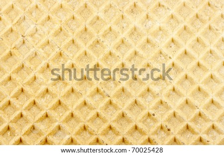 Waffle texture background. Front view.