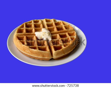 Waffle with butter