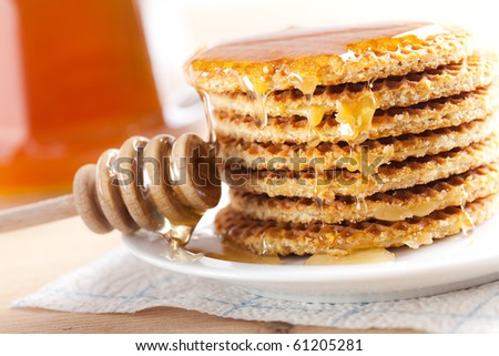 waffle with honey